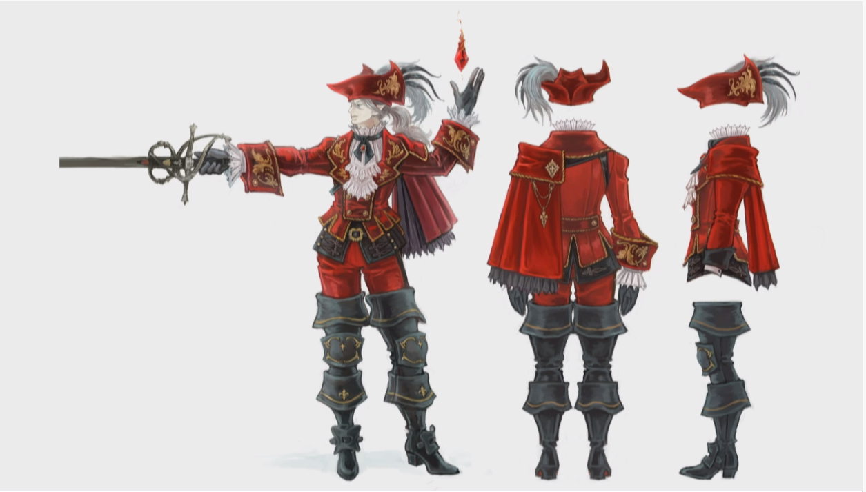 Stormblood Male Red Mage